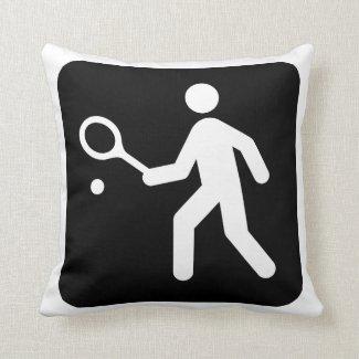 Tennisracquetball-Piktogramm Zierkissen
