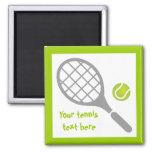 Tennisschläger- und -ballgewohnheit kühlschrankmagnete