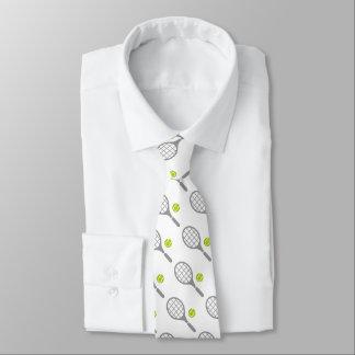 Tennisschläger und Ballgewohnheits-Krawatte Bedruckte Krawatte