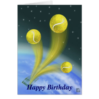 Tennissieg alles Gute zum Geburtstag Grußkarte