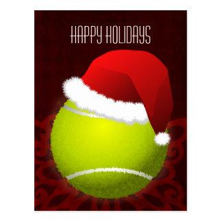 Tennisspieler Feiertagsgruß Postkarte
