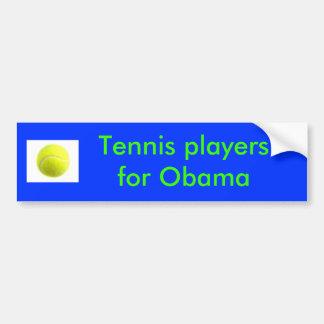 Tennisspieler für Obama Autoaufkleber