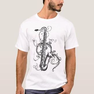 Tenorsaxofon mit Blumen T-Shirt