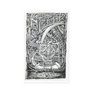 Tentakel-Behälter durch Brian Benson Leinwanddruck