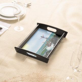 Tentakeln - kleines Serviertablett, schwarz Tablett