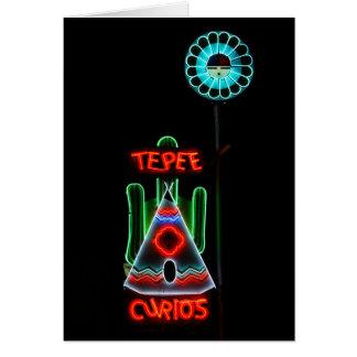 Tepee-Kuriositäts-Leuchtreklame, Tucumcari, New Karte