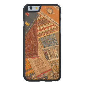 Teppich-Collagen-nahes hohes Carved® iPhone 6 Hülle Ahorn