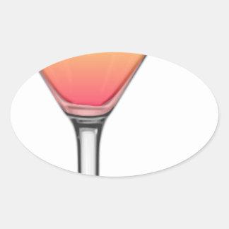 Tequila-Sonnenaufgang-Cocktail Ovaler Aufkleber