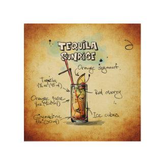 Tequila-Sonnenaufgang-Cocktail-Rezept Holzleinwände