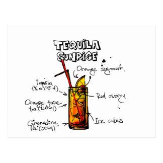 Tequila-Sonnenaufgang-Cocktail-Rezept Postkarte