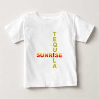 tequila sunrise longdrink cocktail baby t-shirt