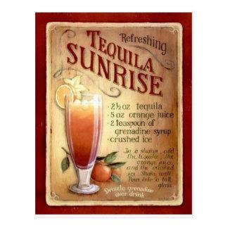 Tequilasonnenaufgangrezept Postkarte