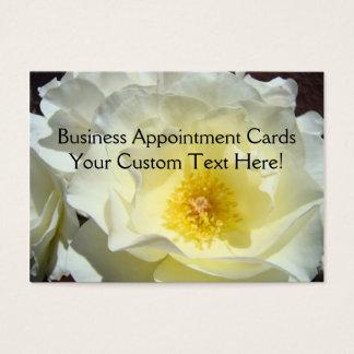Termin kardiert weiße Rosengewohnheit Jumbo-Visitenkarten