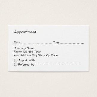 Termin-und Empfehlungs-Karten Visitenkarte