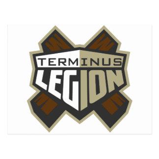 Terminus-Legions-Standard-Logo Postkarte