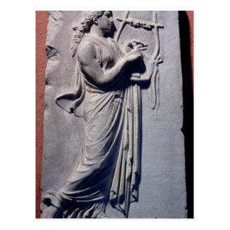 Terpsichore, das Muse des Tanzens und des Liedes Postkarte