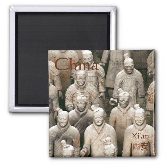 Terracotta-Army in Xi'an / 西安 China Quadratischer Magnet