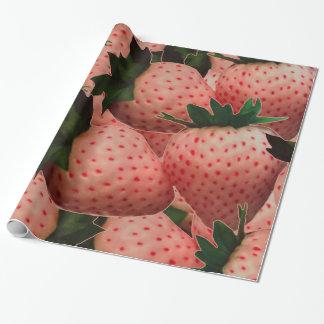Terrakotta-Erdbeeren Geschenkpapier