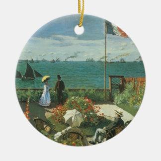 Terrasse an der Küste durch Claude Monet Keramik Ornament
