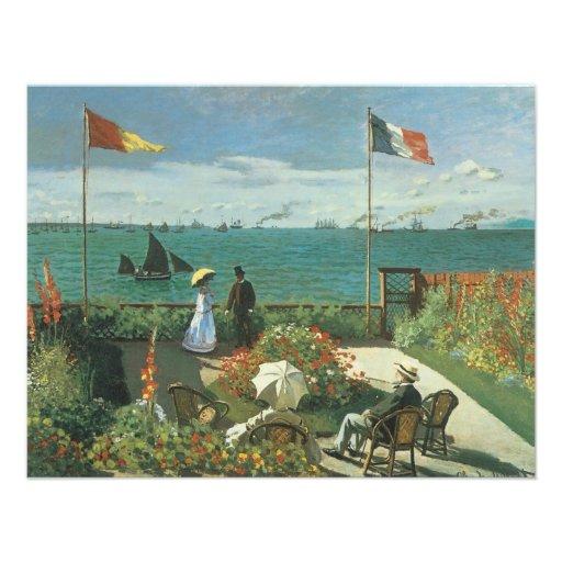 Terrasse an der Küste, Heiliges Adresse Claude Individuelle Ankündigungskarte