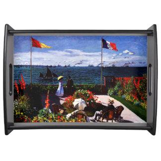 Terrasse Claudes Monet-The bei Sainte-Adresse Serviertablett
