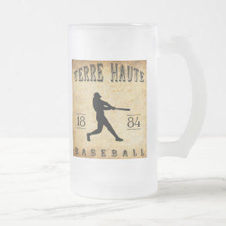 Terre Haute Indiana Baseball 1884 Mattglas Bierglas