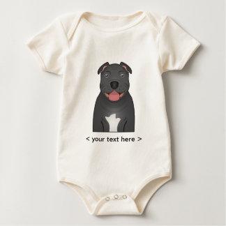 Terrier-Cartoon Staffordshires Stier Baby Strampler