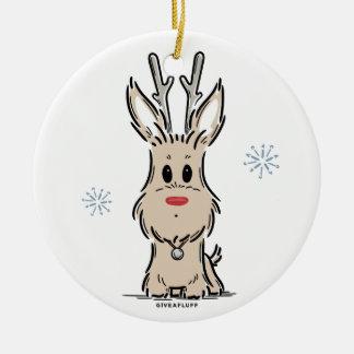 Terrier-Ren-Verzierung Keramik Ornament