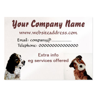Terrier und Spaniel-Hunde Visitenkarten Vorlagen
