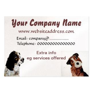 Terrier und Spaniel-Hunde Mini-Visitenkarten