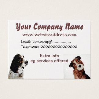 Terrier und Spaniel-Hunde Visitenkarte