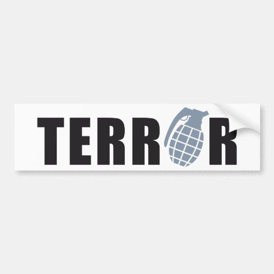 TERROR AUTOAUFKLEBER
