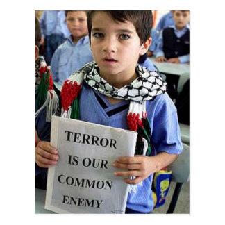 Terror ist unsere allgemeine feindliche Postkarte