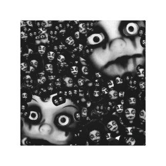 Terror paart, Spuk Puppenbild-Leinwandkunst Leinwanddruck
