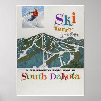 Terry-Spitze, USA, Ski-Reise-Plakat Poster