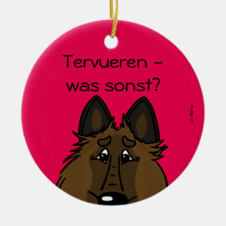 Tervueren – was sonst? rundes keramik ornament