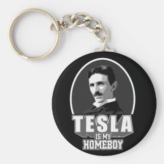 Tesla ist mein Homeboy Schlüsselanhänger