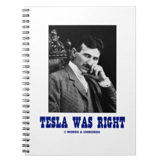 Tesla war recht (Nikola Tesla) Notizblock