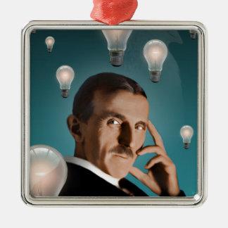 Teslas Traum Silbernes Ornament