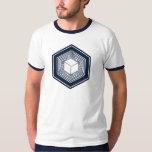 Tesseract, 4D Hypercube, Hyperwürfel, Crop Circle T Shirt