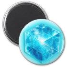 Tesseract, 4D Hypercube, Hyperwürfel Runder Magnet 5,7 Cm
