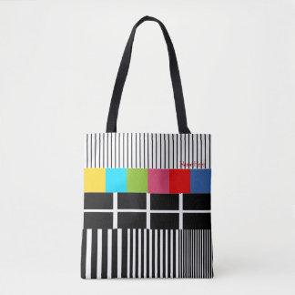 Test-Muster inspiriert Tasche