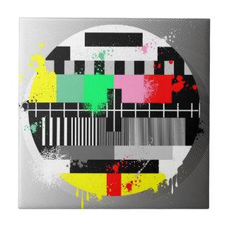 Testschirm des Schmutzes Retro Fernseh Keramikfliese