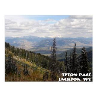 teton Durchlauf, Teton Durchlauf, Jackson, WY Postkarte