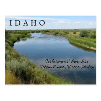 Teton Fluss, Idaho, PC das Paradies der Fischer Postkarte
