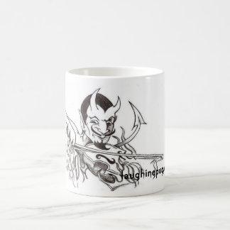 Teufel, der die Geige spielt Kaffeetasse