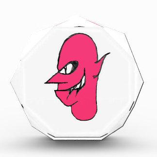 Teufel-Gesichts-Charakter-Illustration Auszeichnung