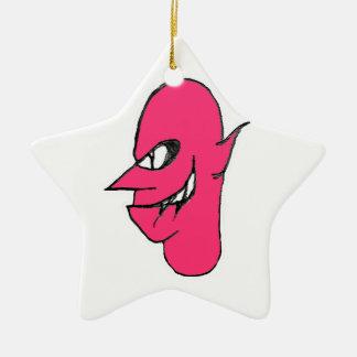 Teufel-Gesichts-Charakter-Illustration Keramik Ornament