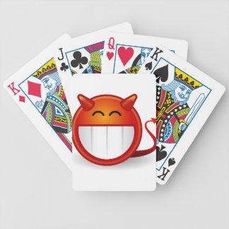 Teufel-Lächeln Bicycle Spielkarten