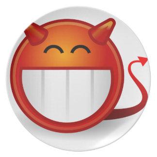 Teufel-Lächeln Teller
